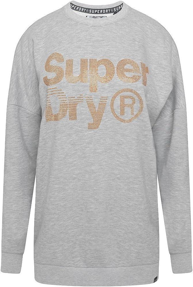 Superdry Sparkleskatercrew Sudadera, Grigio (Heelflip Grey Marl ...