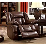 Furniture of America Rosamund Recliner Chair with Power-Assist System