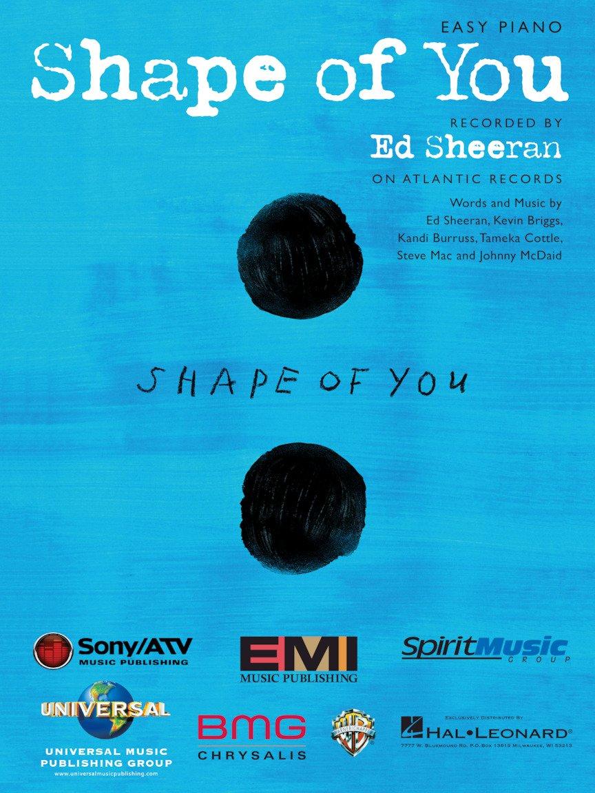Ed Sheehan - Shape of You Easy Piano Sheet Music Single Hal Leonard 4334224574
