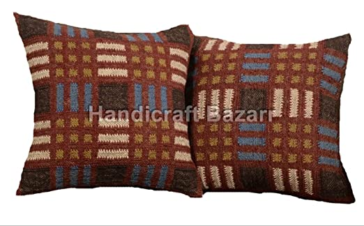 handicraft Bazar - Juego de 3 Fundas de cojín de Yute ...