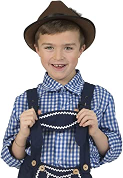 Luxuspiraten Lujo Piratas – Disfraz Infantil Azul Color Blanco diseño Basic Camisa Cuadros, Blue White Check ered Camiseta, Oktoberfest Carnaval y, 116, – , Color Azul: Amazon.es: Juguetes y juegos