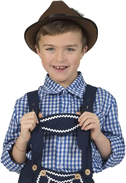 Halloween enia – Disfraz Infantil Azul Blanco Camisa básica a ...
