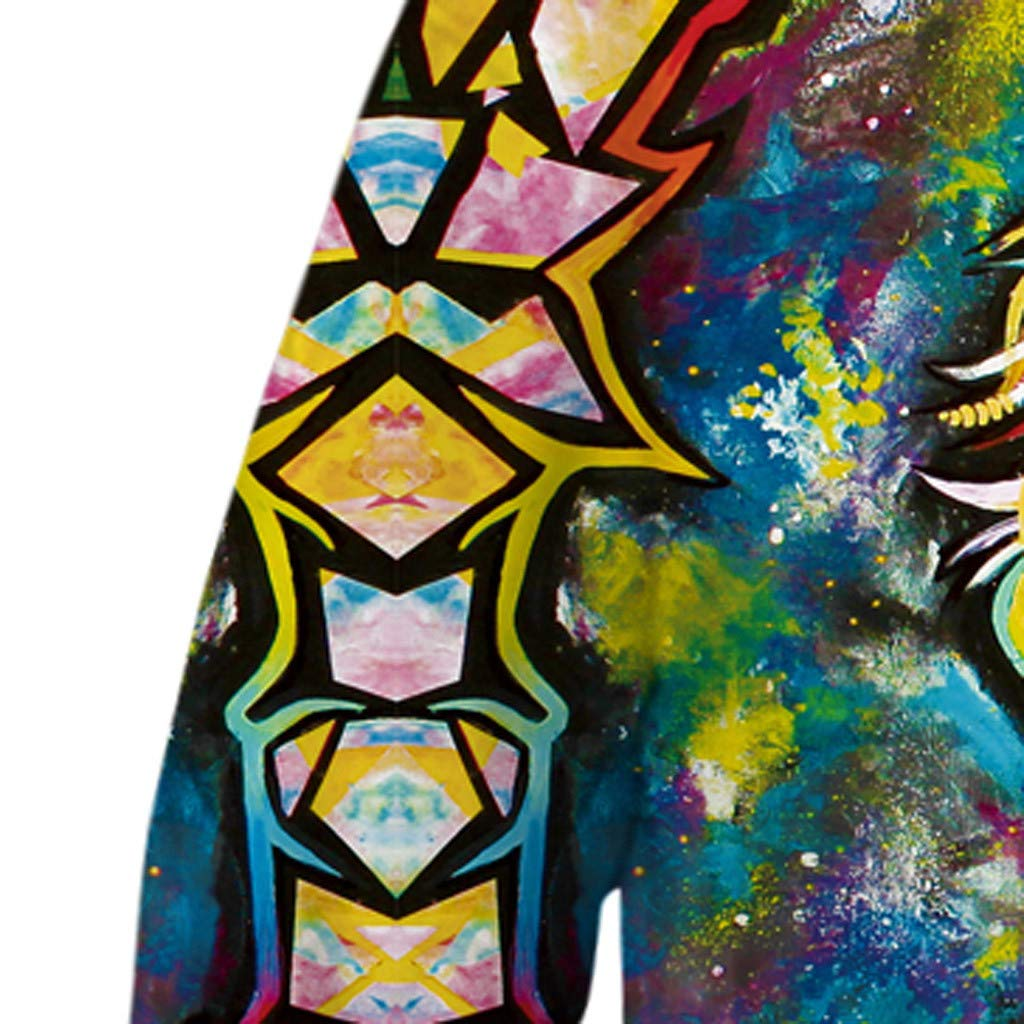 KASSD Teen Sweatshirt Kids Cartoon Multicolored 3D Print Pocket Hoodie Fleece Pullover Boys Clothes 4-13 Years