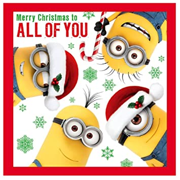 296009ea8e4f2 Despicable me merry christmas to all of you christmas card minion   Amazon.co.uk  Toys   Games