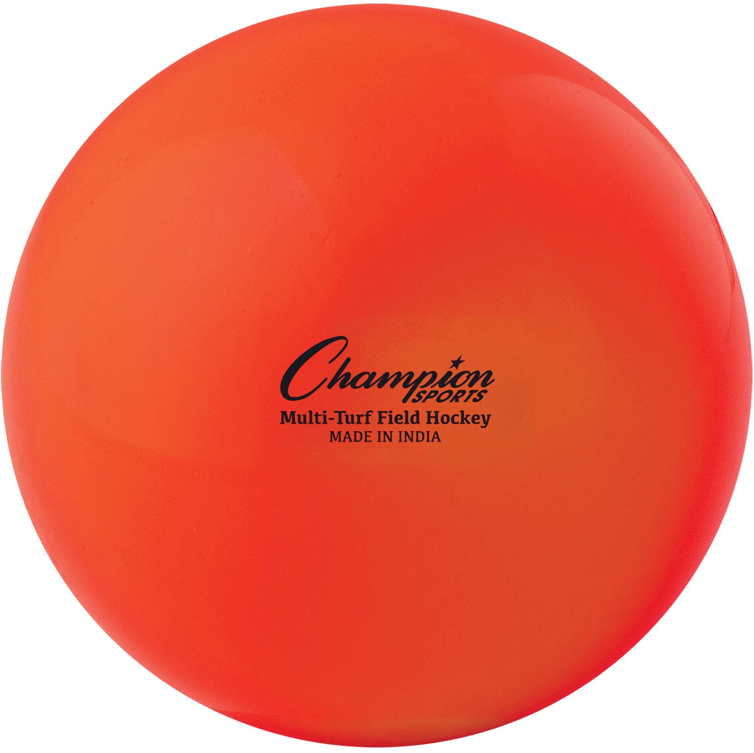"Champion Sports Field Hockey Balls, Regulation Size, 12-Pack, 2.75"" Each - Sports Practice Hockey Ball Set for Fields, Grass, Turf - Durable, Bouncy, Lightweight, Bright Colored - Orange"