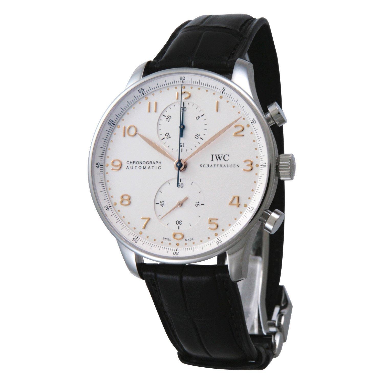[アイダブリューシー]IWC 腕時計 ポルトギーゼ クロノ シルバー PG 黒クロコ 自動巻き Dバックル IW371445 メンズ 【並行輸入品】 B006O76N4A