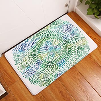 Bodenmatte Blume Gedruckt Matte Wildleder Matte Outdoor Home Dekoration Bad  Teppich Badematte , 10 , 50x80cm