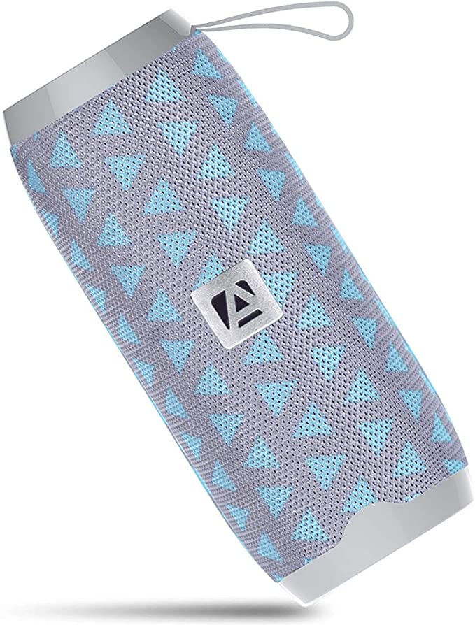 Aduro Portable Bluetooth Speaker Black Outdoor Wireless Speaker Built-in Mic USB Flash Drive and Micro SD Input