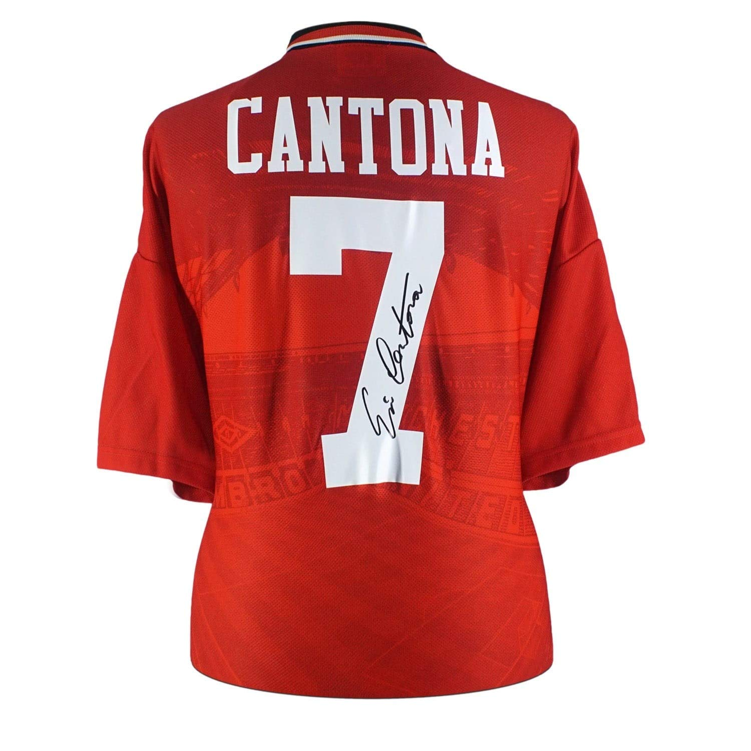 12e23cb4b Eric Cantona Signed Manchester United 1996 Home Jersey at Amazon s Sports  Collectibles Store