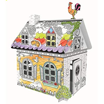 Farm Coloring Playhouse, Coloring Play House Creative Crafts for ...
