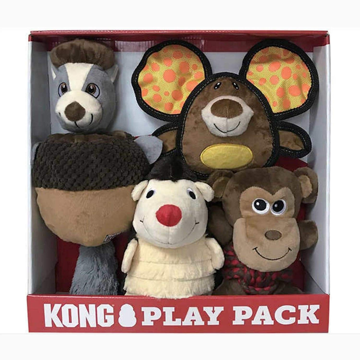 KONG Play Pack, 4 Full Size Dog Toys. Hiderz, Ears, Weave, Layerz by KONG