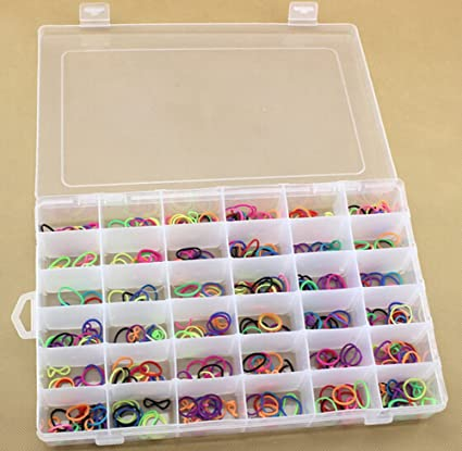 SENREAL 36 Grid Clear Plastic Adjustable Craft Beads Jewelry Sewing Storage Box Case Organizer Container Divider  sc 1 st  Amazon.com & SENREAL 36 Grid Clear Plastic Adjustable Craft Beads Jewelry Sewing Storage Box Case Organizer Container Divider Portable Electronics Parts Gadgets ...