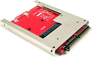 """Ableconn IIDE-MSAT mSATA SSD to 2.5-Inch IDE Adapter Converter with Aluminum Frame Bracket - Latch and Retain mSATA SSD as 9.5mm 2.5"""" IDE SSD Drive"""