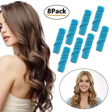 Aolvo - 8 rizadores de pelo de 15 cm (TM) para niñas y mujeres
