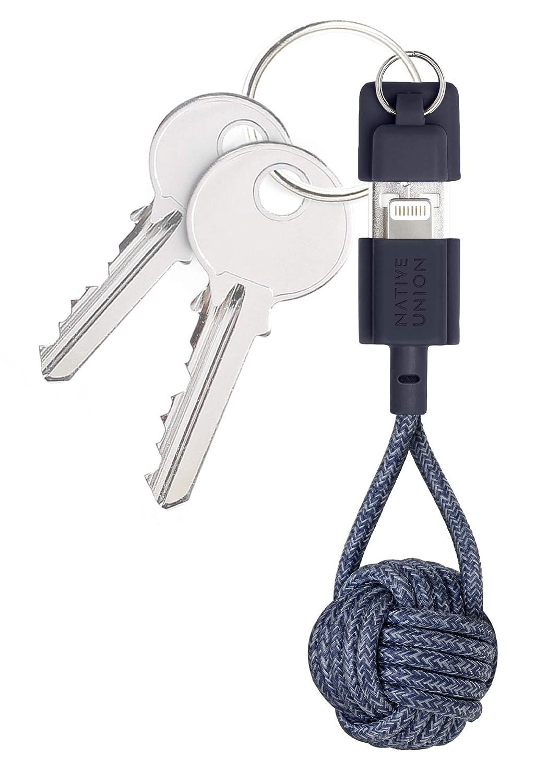 Native Union Key Cable USB-A a Lightning - Resistente Cable de Carga Lightning a USB con Llavero [con Certificado MFi] para iPhone/iPad (Indigo)