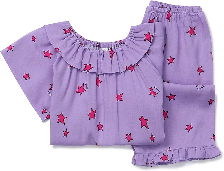 orcite Girls Pajamas Set 18M 14 Years Short Sleeve Loose Fit PJS