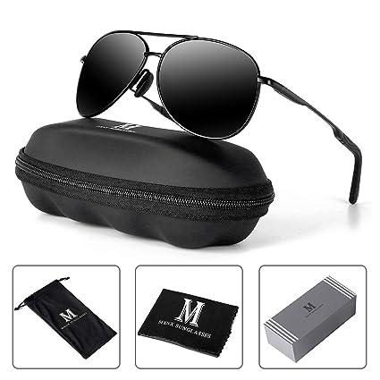 dfc818ba017 Aviator Sunglasses for Men Polarized Women-MXNX UV Protection Lightweight  Al Mg Driving Fishing Sports