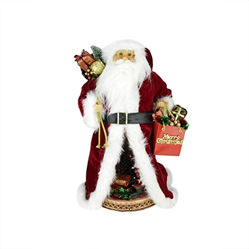 Northlight 20 Battery Operated Musical Standing Santa Claus Figure with LED Lighted Christmas Scene
