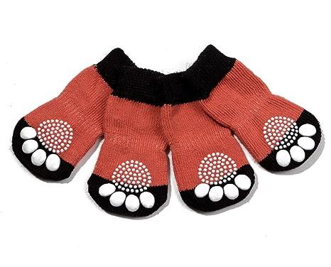 Control de tracci/ón para el Uso en Interiores Protectores de Patas para Perros Gatos Pet Heroic 6 tama/ños Calcetines Antideslizantes para Perros Gatos Ajuste para Perros Extra peque/ños a Grandes