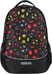 American Tourister Hs Mv+ 28 Ltrs Black Casual Backpack (AT9 (0) 39 008)