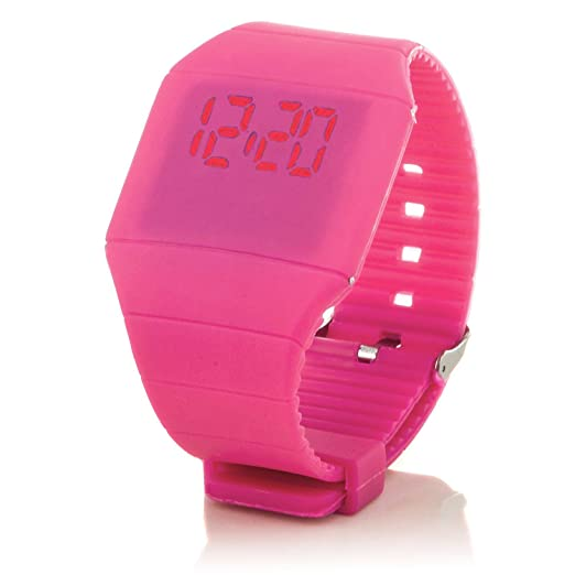 """c.d.r. silicona reloj digital LED reloj de pulsera LED Watch Reloj digital rosa"