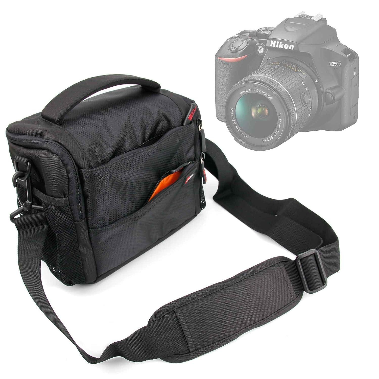DURAGADGET Bandolera con Compartimentos para Cámara Nikon D3500 ...