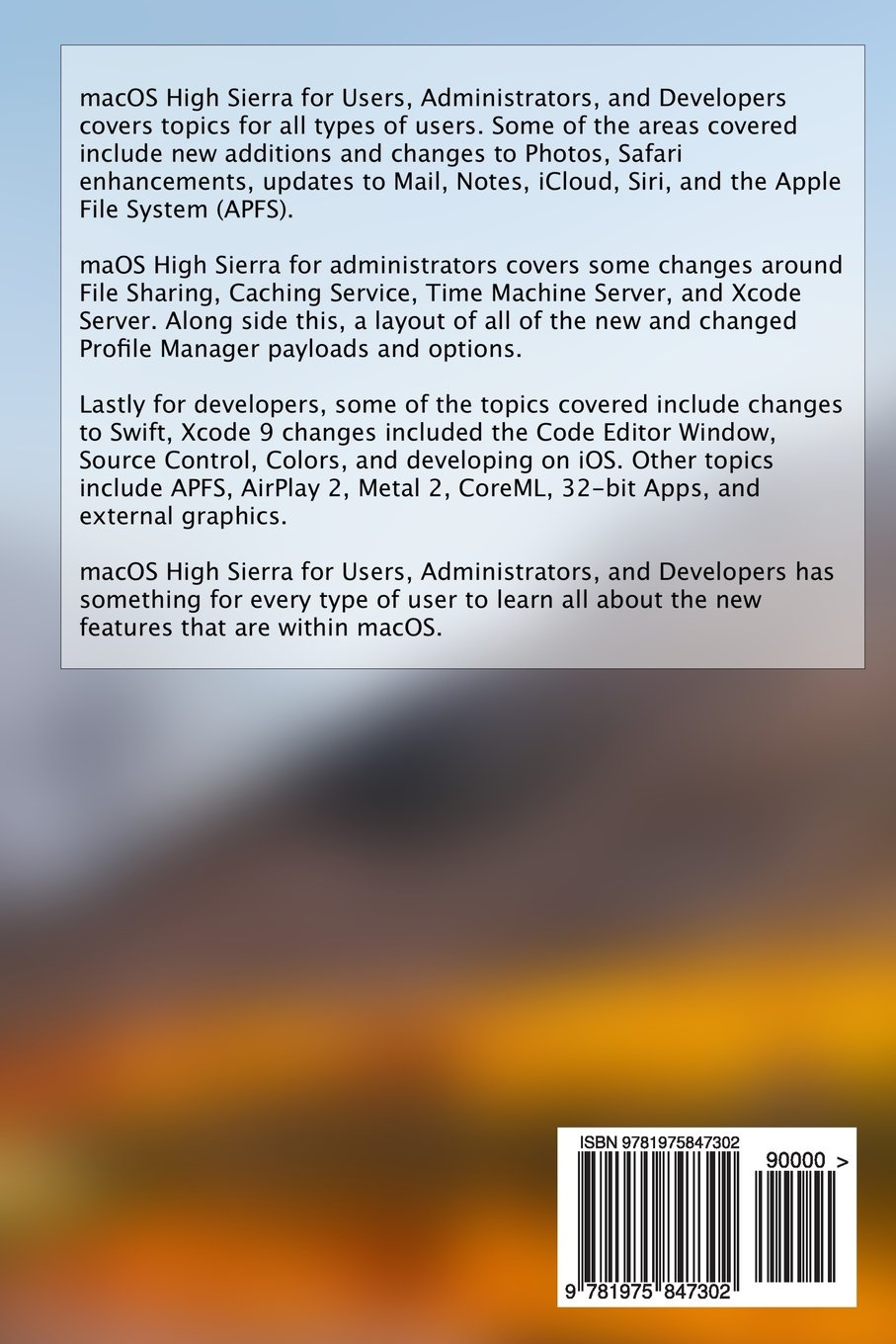 macOS High Sierra for Users, Administrators and Developers