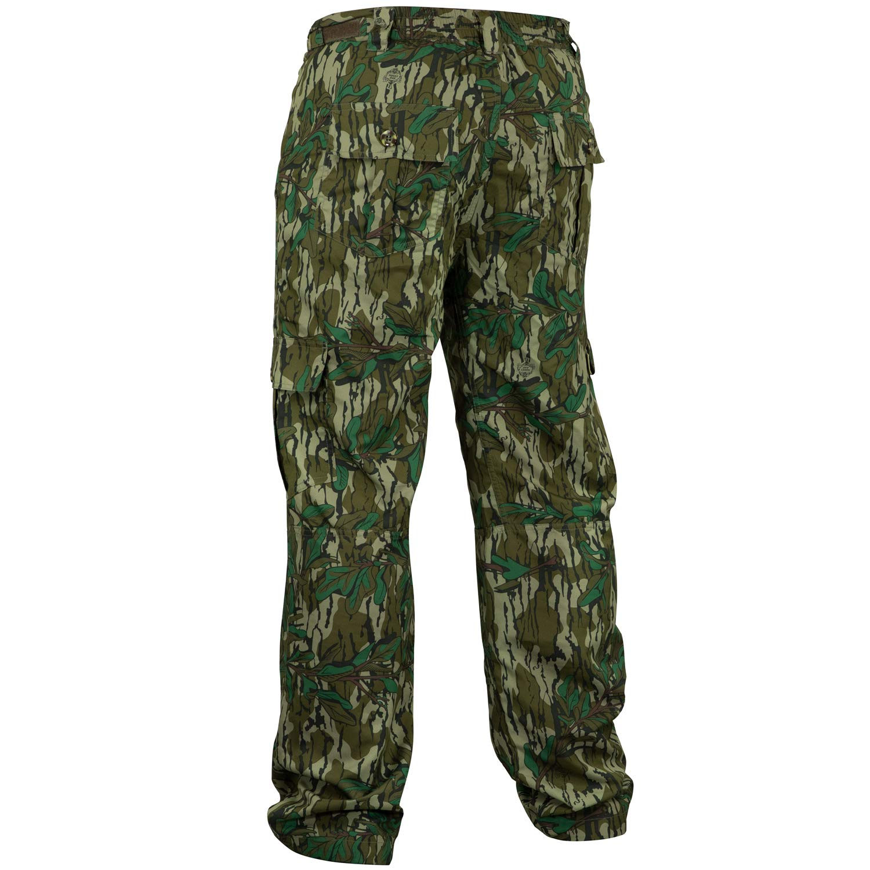Mossy Oak Men's Tibbee Technical Lightweight Camo Hunting Pants, Greenleaf, Small by Mossy Oak (Image #2)
