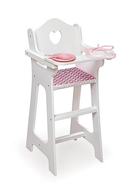 Badger Basket Doll High Chair With Plate, Bib U0026 Spoon (Fits American Girl  Dolls