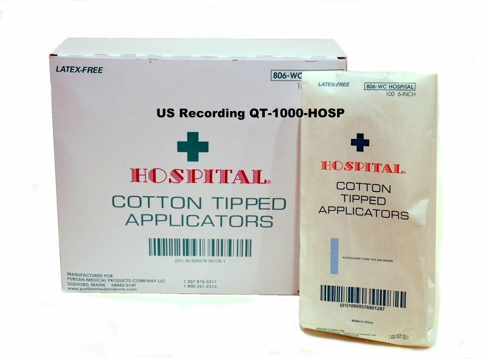 Puritan Cotton Tipped Applicators 806-WC HOSPITAL [Box of 10000 Applicators] 6'' Wood Handles