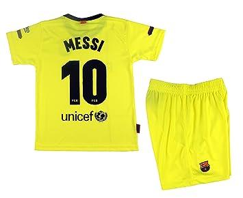 Kit Segunda Equipación Infantil Leo Messi del FC Barcelona Producto Oficial  Licenciado Temporada 2018-19 de382b957be