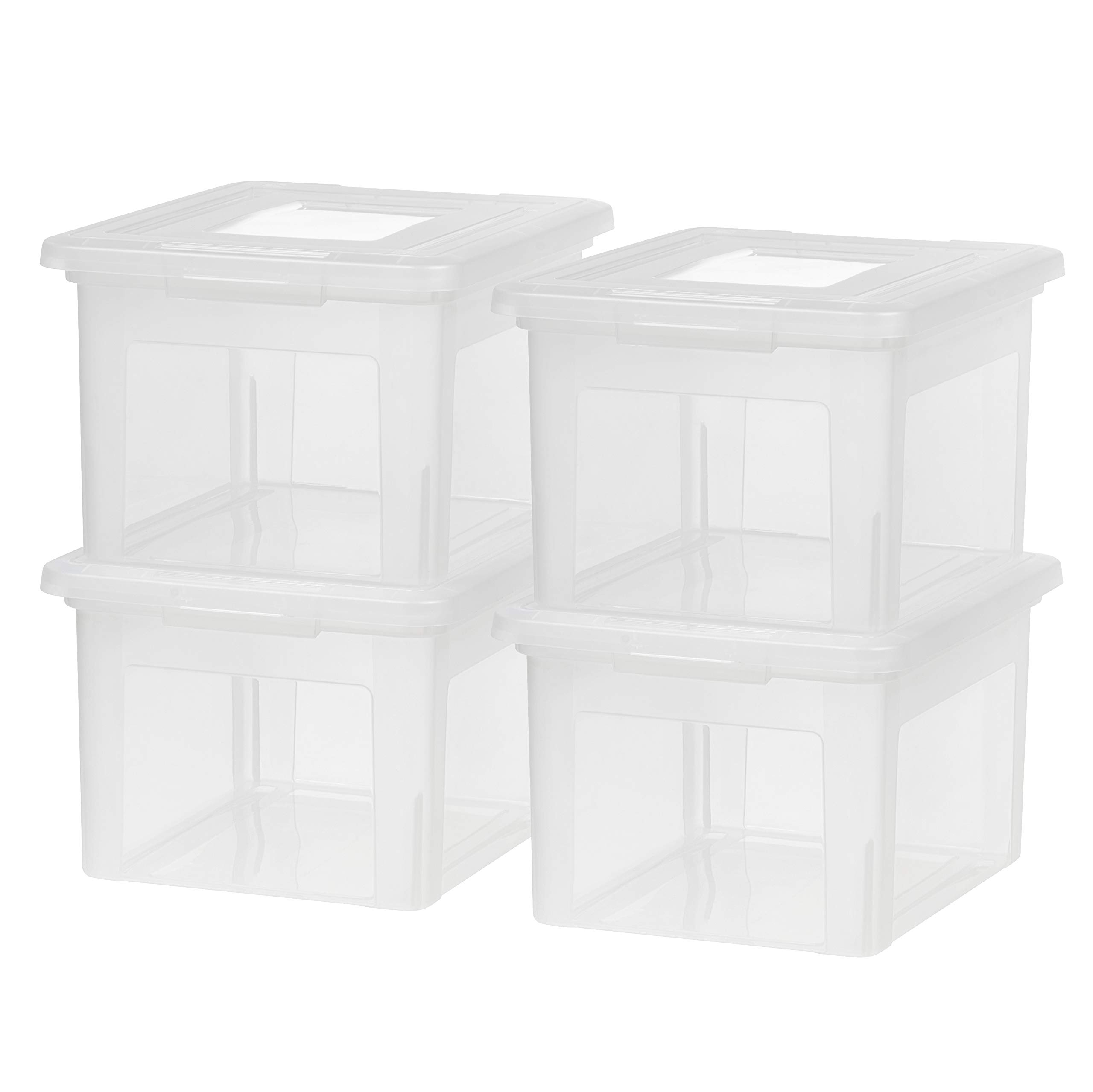 IRIS USA, Inc. FB-21EE Letter and Legal Size File Box, Medium, Clear, 4 Pack by IRIS USA, Inc.