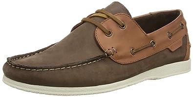 Chaussures Bateau En Cuir Ben Sherman Marine - Bleu ai94I3RxO2