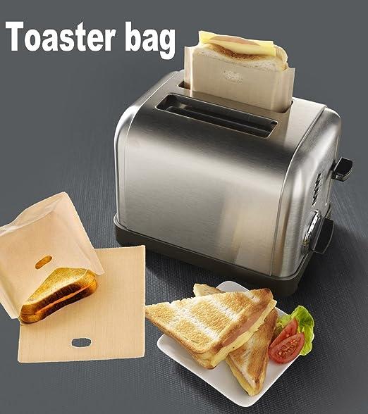 15 opinioni per ALAIX borse Tostapane riutilizzabile 100 uso non-Stick sacchetti per toast/