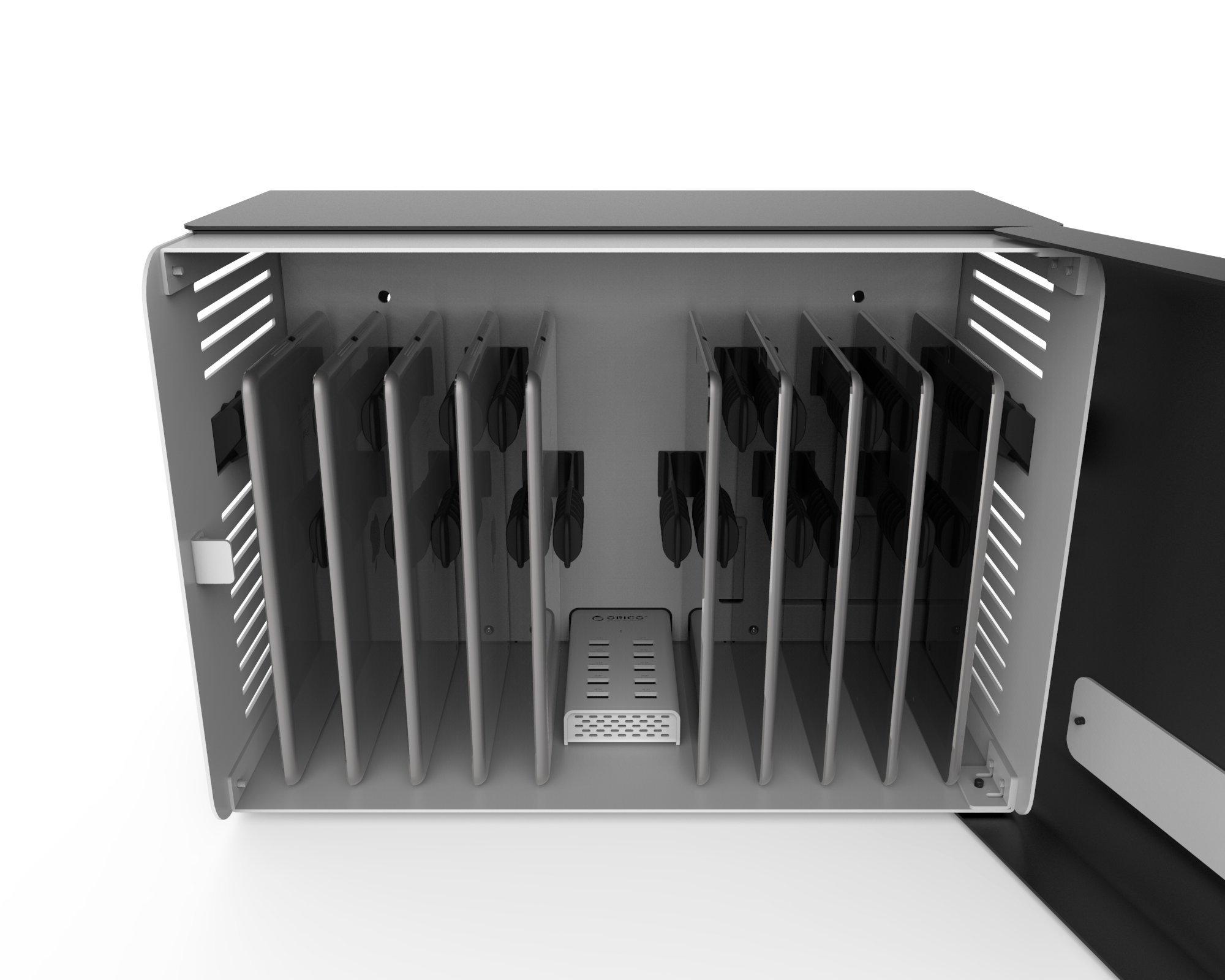 Maclocks CHRGBOX10B Charge Box 10 Tablet Charging Locker with USB Hub for iPhone/iPad/Samsung/Nexus (Black)