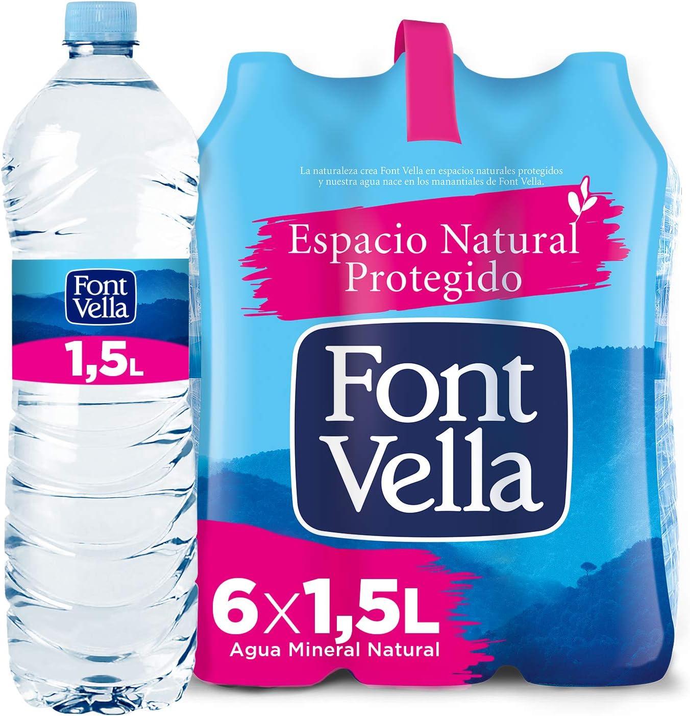 Font Vella, Agua Mineral Natural - Pack 6 x 1,5L: Amazon.es ...