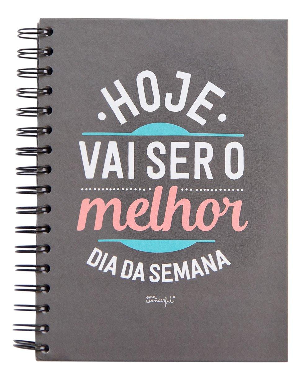 Mr.Wonderful WOA03194-Quaderno, motivo: migliore è oggi il giorno della settimana, con tenore in portoghese