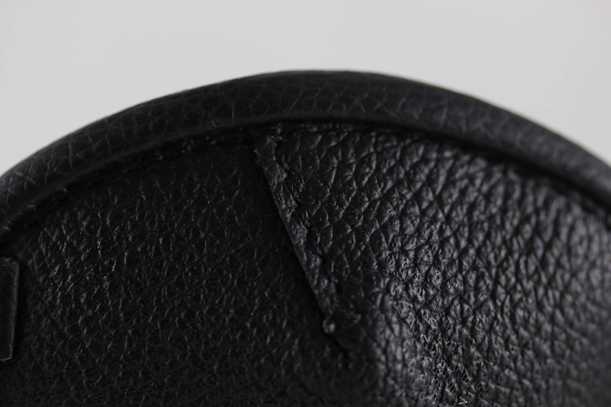Leather Eyepatch. Slight Convex Eye Patch (Right Eye, Full Size Black) by Desantis Leather Goods (Image #8)