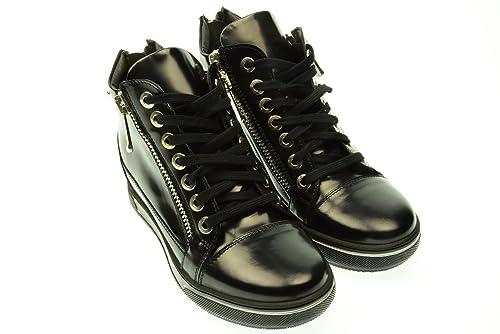 mujer zapatillas de deporte con cuña interior ALBANO 2045 GI143 40 Nero: Amazon.es: Zapatos y complementos