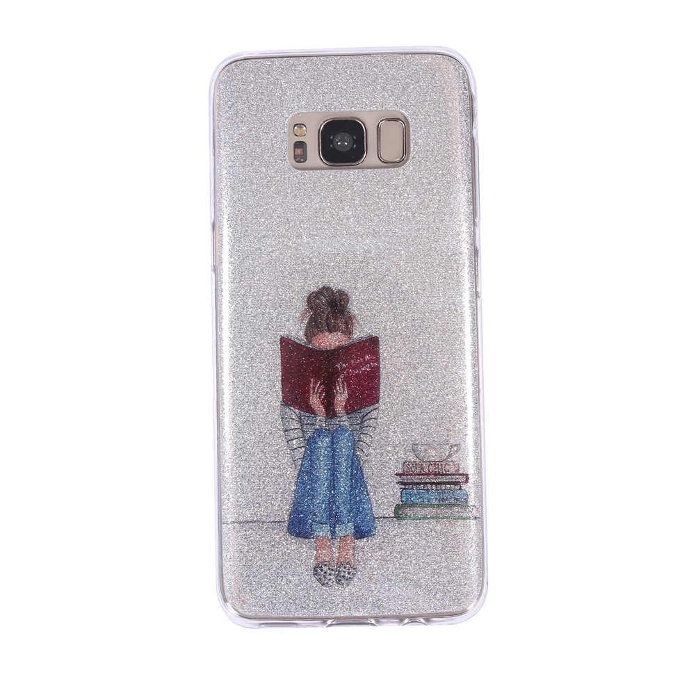 Silicone Glitter Phone Cover For Samsung Galaxy S8 Cartoon Soft TPU Back Cover Alician