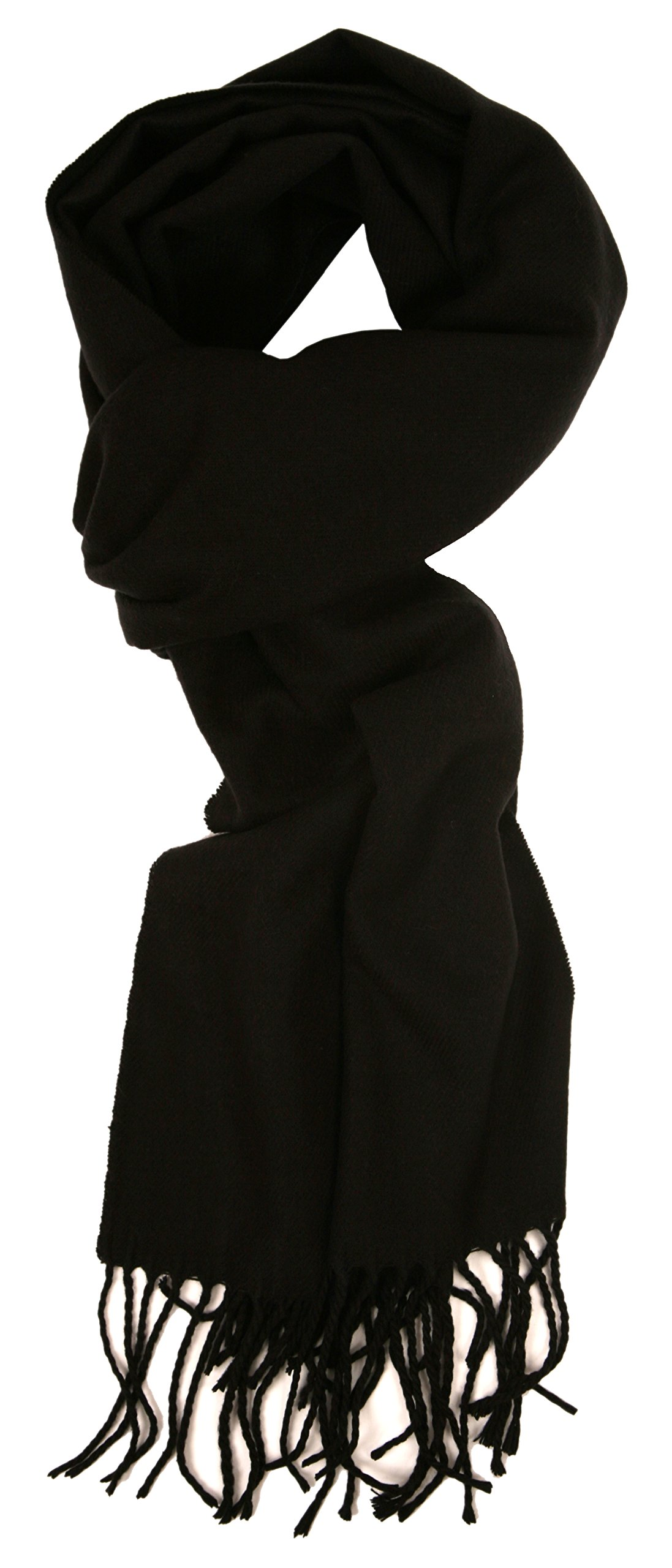 Love Lakeside-Women's Cashmere Feel Winter Solid Color Scarf 0-0 Black