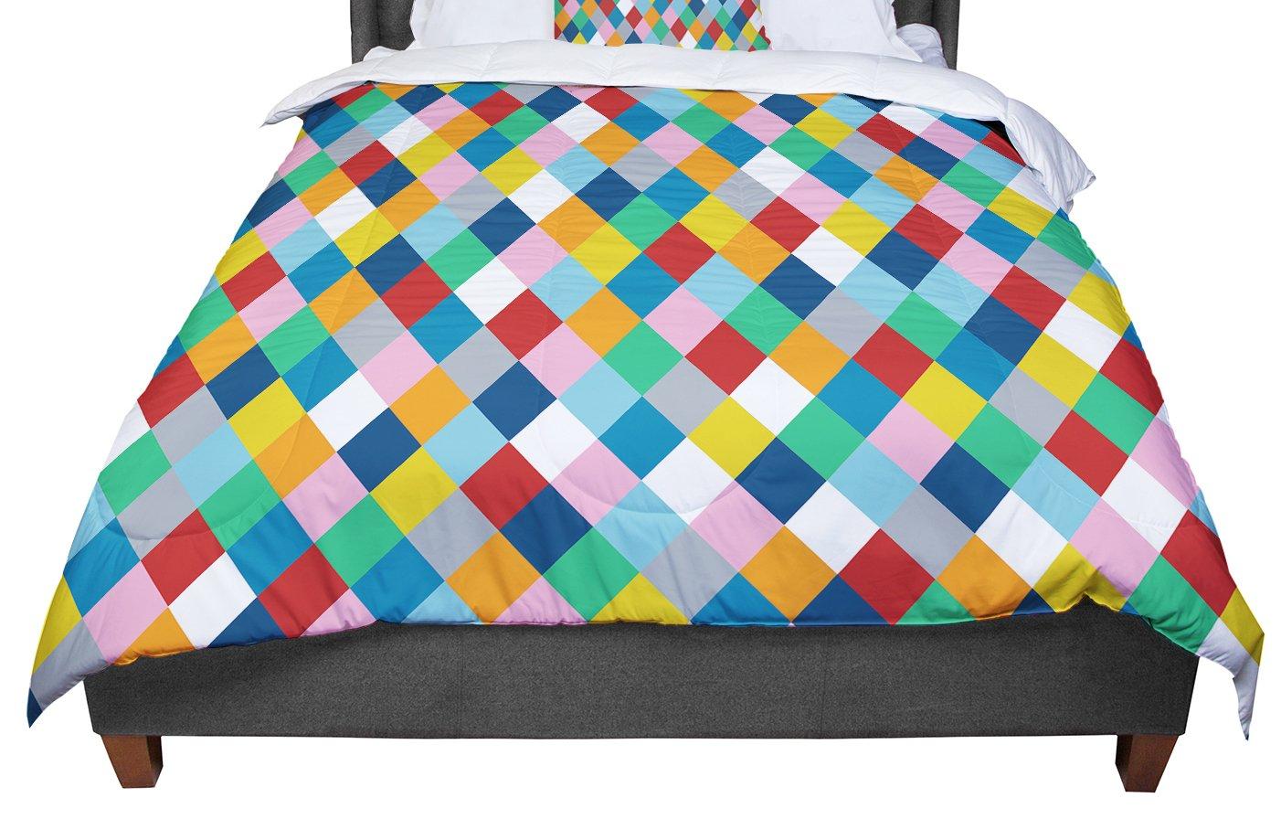 KESS InHouse Project M Harlequin Zoom Queen Comforter 88 X 88