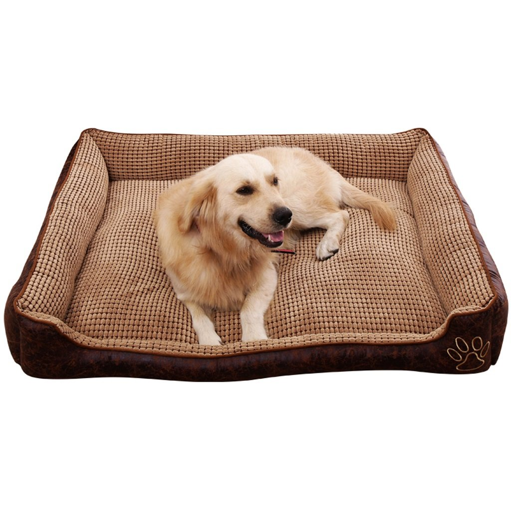 L Wei Zhe- Pet Dog Bed- Comfort with Blanket for Warmth and Security-Fabric 70x55x22cm pet Bed wash (Size   L)