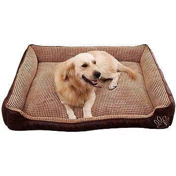 Pequeño árbol Perrera para Mascotas de Verano Lavable, colchones para Perros medianos y Grandes,