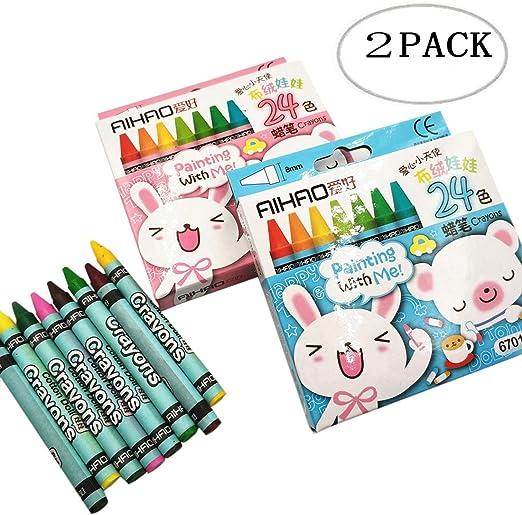 Lápices de Colores Crayon Set 2 Pack 24 Lápices de Colores Colección de Lápices de Colores