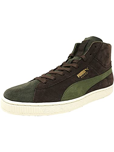f9bf82ccb43f PUMA Men s Mid X Bobbito Suede Chestnut Burnt Olive Gold High-Top Fashion  Sneaker - 8M  Amazon.co.uk  Shoes   Bags
