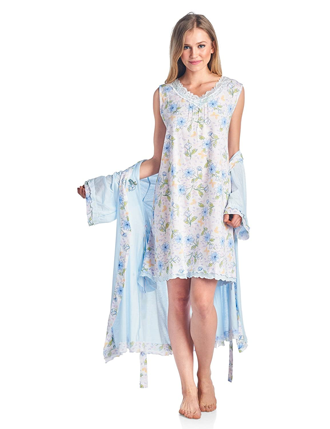 Casual Nights Womens Sleepwear 2 Piece Nightgown And Robe Set At