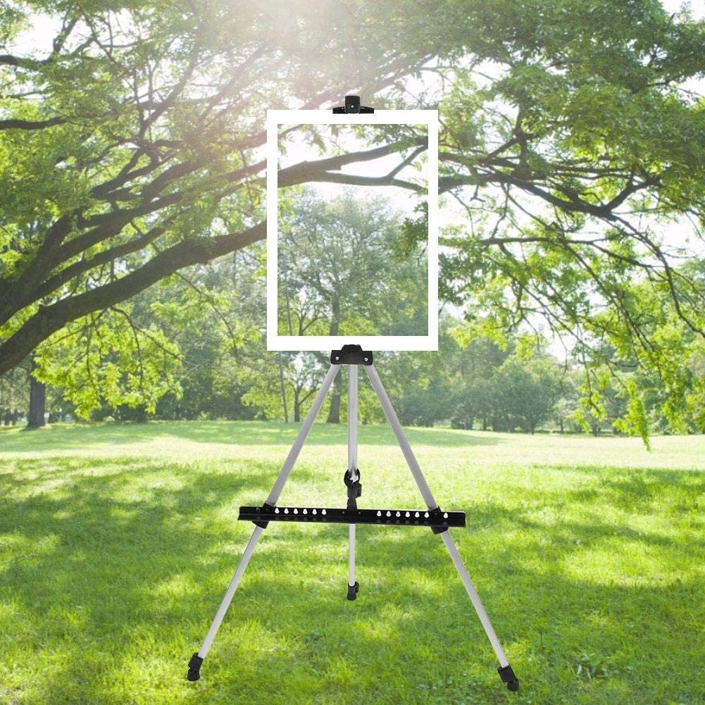 Aluminum Metal Easel Stand Foldable Artist Painting Easel Adjustable Floor Easels for Adults Kids Painting Display Stand Studio Drawing Board