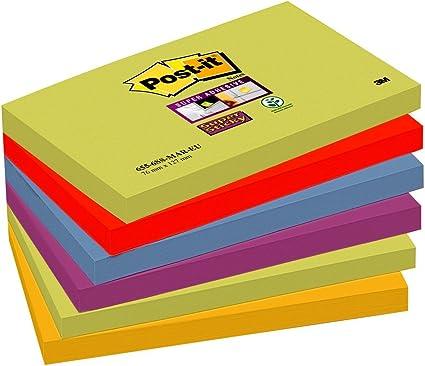 Post-it 655-6SS-MAR-EU Pack de 6 Blocs de Notas Adhesivas ...
