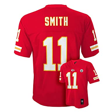 factory price 89454 9feee Amazon.com: Alex Smith Kansas City Chiefs Youth Size Red Mid ...